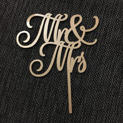 Mr & Mrs - Cake Topper