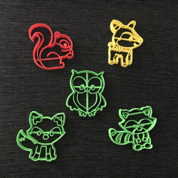 Woods Animals pack x5